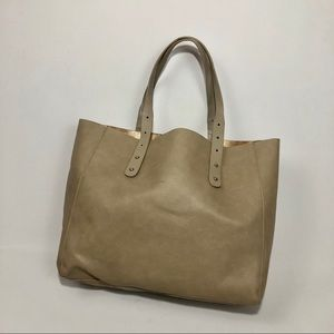 Neiman Marcus | tan shoulder tote bag